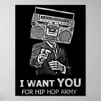 私はヒップホップの軍隊のためのほしいと思います ポスター