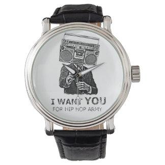 私はヒップホップの軍隊のためのほしいと思います 腕時計