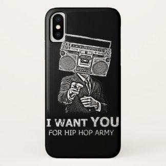 私はヒップホップの軍隊のためのほしいと思います iPhone X ケース