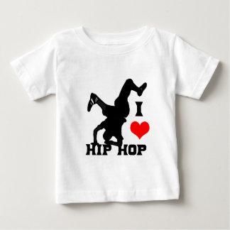 私はヒップホップを愛します ベビーTシャツ