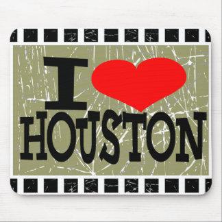 私はヒューストン-マウスパッド--を愛します マウスパッド