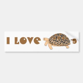 私はヒョウのカメのバンパーステッカーを愛します バンパーステッカー