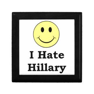 私はヒラリーの幸せなスマイリーフェイスを憎みます ギフトボックス