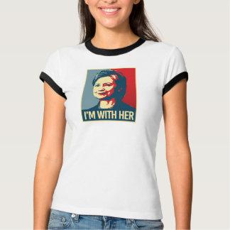 私はヒラリーポスターとあります- - Tシャツ