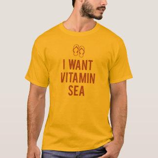 私はビタミンの海がほしいと思います Tシャツ