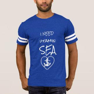 私はビタミンの海の青および白を必要とします Tシャツ