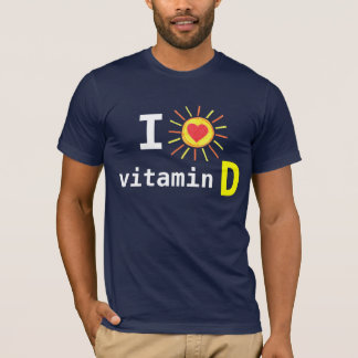 私はビタミンDを愛します Tシャツ