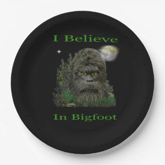 私はビッグフットで信じます ペーパープレート