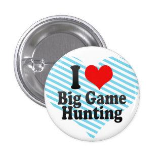 私はビッグ・ゲームの狩りを愛します 3.2CM 丸型バッジ