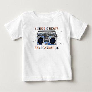 私はビッグ・ビートを好みます ベビーTシャツ