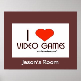 私はビデオゲームを愛します ポスター