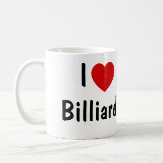 私はビリヤードを愛します コーヒーマグカップ