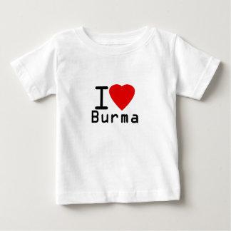 私はビルマを愛します ベビーTシャツ