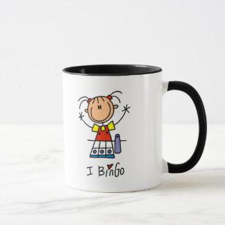 私はビンゴのTシャツおよびギフトを愛します マグカップ