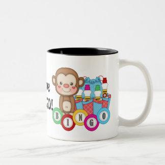 私はビンゴ猿のコーヒー・マグを愛します ツートーンマグカップ