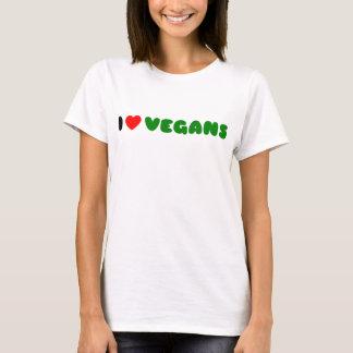 私はビーガンを愛します Tシャツ