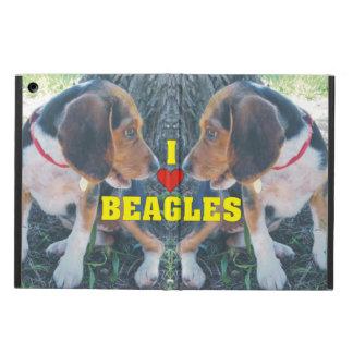 私はビーグル犬のビーグル犬の子犬を愛します iPad AIRケース