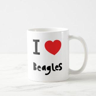 私はビーグル犬のマグを愛します コーヒーマグカップ
