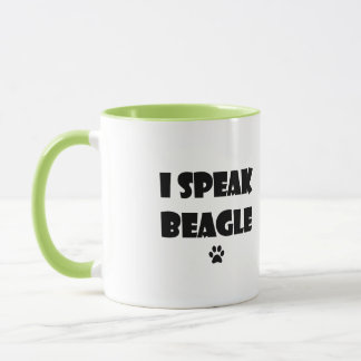 私はビーグル犬のマグを話します マグカップ
