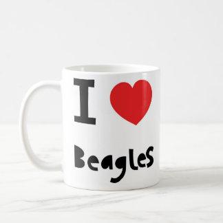 私はビーグル犬を愛します コーヒーマグカップ