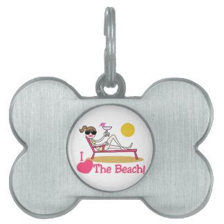 私はビーチを愛します ペットIDタグ