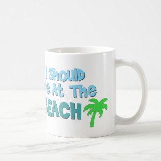 私はビーチ11ozのコーヒー・マグにあるべきです コーヒーマグカップ