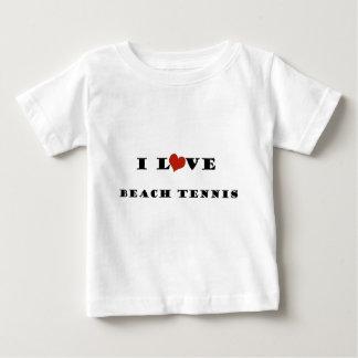 私はビーチTennis.pngを愛します ベビーTシャツ