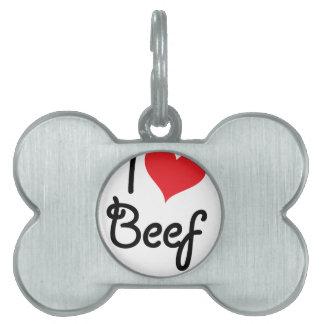 私はビーフを愛します ペットネームタグ