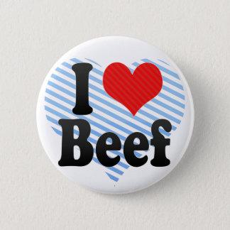 私はビーフを愛します 5.7CM 丸型バッジ