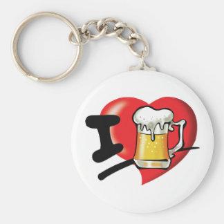 私はビールを愛します キーホルダー