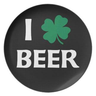 私はビールを愛します プレート
