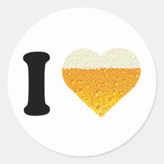 私はビールを愛します ラウンドシール