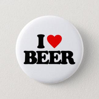 私はビールを愛します 5.7CM 丸型バッジ
