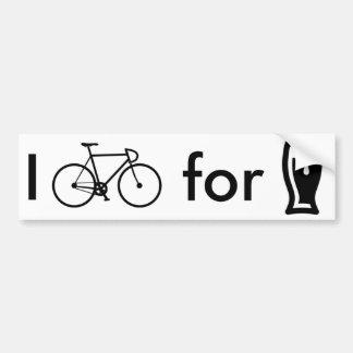 私はビールバンパーステッカーのために自転車に乗ります バンパーステッカー