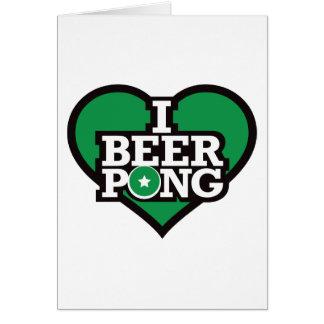 私はビールPong -緑--を愛します カード