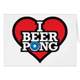 私はビールPong -赤--を愛します カード