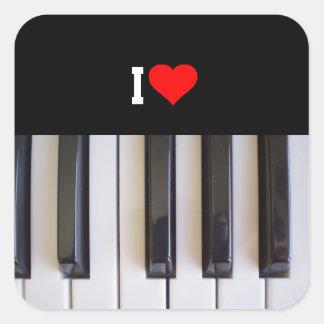 私はピアノを愛します スクエアシール