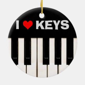 私はピアノ鍵を愛します セラミックオーナメント
