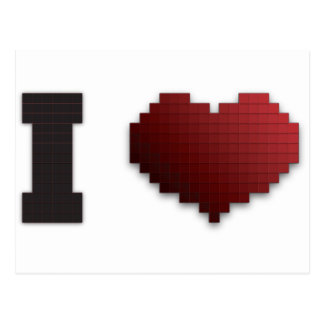 私はピクセルをか。愛します!か。 ポストカード