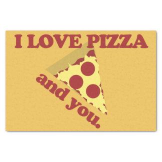私はピザおよびあなたを愛します 薄葉紙