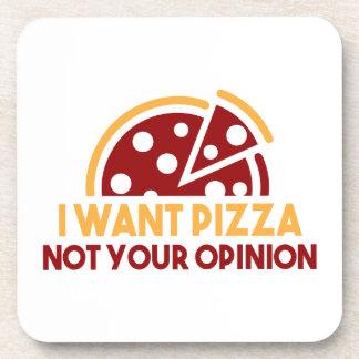 私はピザがほしいと思います コースター