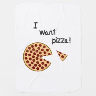 私はピザがほしいと思います ベビー ブランケット
