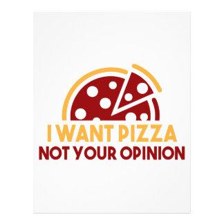 私はピザがほしいと思います レターヘッド