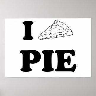私はピザを愛します ポスター