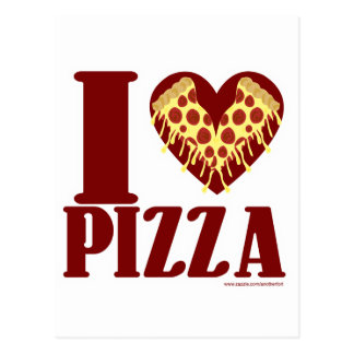 私はピザを愛します ポストカード