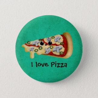 私はピザを愛します 5.7CM 丸型バッジ