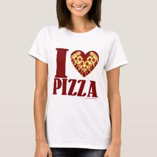 私はピザを愛します Tシャツ