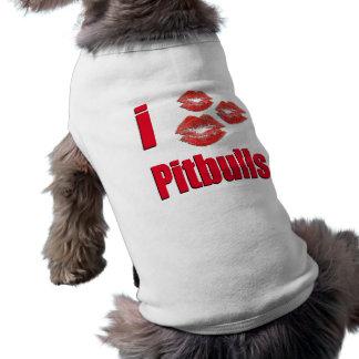 私はピットブル犬、熱狂するな口紅のキスを愛します ペット服