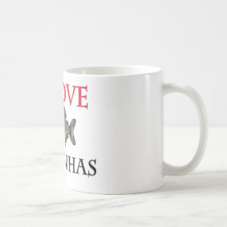 私はピラニアを愛します コーヒーマグカップ