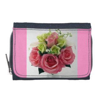 私はピンクのバラの女性財布および硬貨の財布を愛します